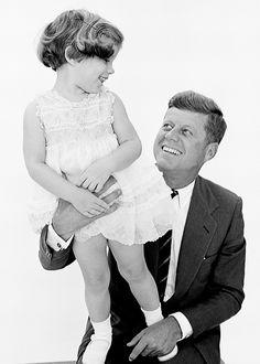 Caroline Kennedy & John F. Kennedy, photographed by Richard Avedon, 1960.