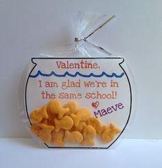 Goldfish Valentines ideas, Free Printables, Sugar Free Valentines Treats ~ only $.26 each