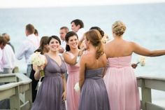 Photography by Amanda Suanne via Style Me Pretty Morgan and Jessie in Grey Ridge and Blush