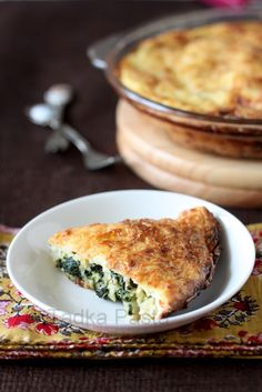 Garlicky Spinach Impossible Pie