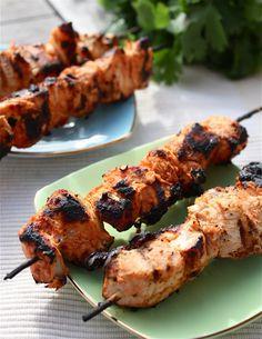 Spicy Yoghurt Marinated Chicken Kebabs
