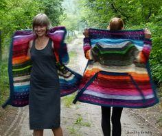 swetry doroty: Dwa kolorowe kocyki -