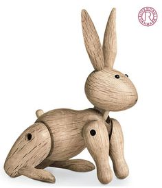 Kay Bojesen: Wooden Rabbit in Oak  Kay Bojesen Classic Wooden Toy Collection  Rosendahl, Denmark. Special: $120.00 instead of $165.00.