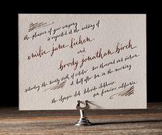Letterpress Wedding Invitations | Gracieux Design | Bella Figura Letterpress