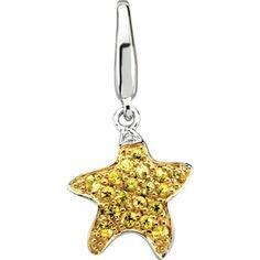 Lemon Zest (Pantone 13-0756)   14KW Genuine yellow sapphire starfish charm, .004cttw. Find it at a jeweler near you: www.stuller.com/locateajeweler