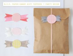 D.I.Y. Paper Candy Gift Topper / Party Decor