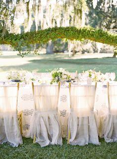 Beautiful chair covers for homestead elegance wedding | Corbin Gurkin Photography | Theknot.com