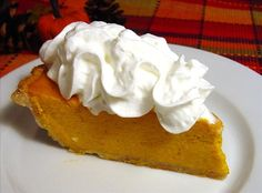 Pumpkin Pie (Paula Deen) from Food.com:   This pie is creamy and light--melt in the mouth delicious.  The seasonings are subtile and thoroughly enjoyable. From Food Network's 2006 Thanksgiving menu.