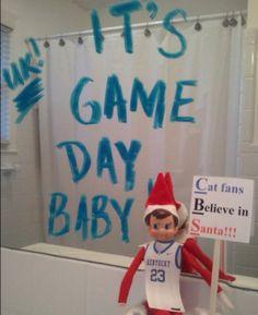 mirror, the game, field day, shelf idea, messag, elf on shelf, north pole, place, elves