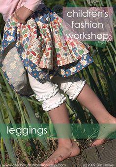 Girls Leggings tutorial and free pdf pattern