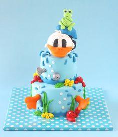 donald duck, duck cake