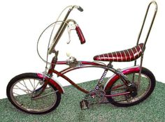 Ape hangers, banana seat, sissy bar, gear shift and hand brakes..... what this bike was to a 70's kid is probably the equivalent of what a 4 wheeler is for kids today.