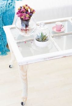 Coffee table made with an old window decor, jane carolin, coffee tables, crafts with old windows, old window coffee table, window idea, reuse old windows, coffe tabl, coffe order