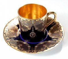 #Antique #Coalport style #Rosenthal #Dresden #cup and #saucer
