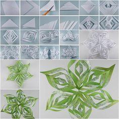 How to DIY Beautiful Paper Snowflake | iCreativeIdeas.com Like Us on Facebook ==> https://www.facebook.com/icreativeideas