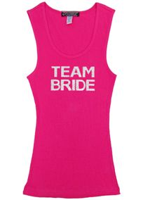 Silver Hologram Sequin Team Bride Tank, Style DBSEQBPTB #davidsbridal #bacheloretteparty