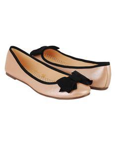 flats style, bow trim, bows, ballet flats, trim ballet, black trim, bow flat, shoe, black bow
