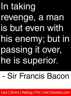 sir francis bacon essay on revenge