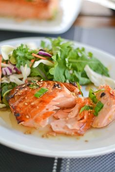Broiled Salmon with Ginger Honey Glaze... Definitely testing this for my Shrinking On a Budget Meal Plan - will test on grill since we are trying to keep the kitchen cool this summer.