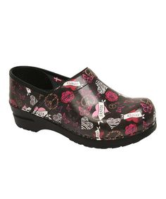 Take a look at this Black Heart & Rose Professional Heather Clog - Women by Sanita on #zulily today!