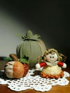 Scrap pumpkins & angel ( I made the big pumpkin, bought the small items on sale at Jo-Ann's - $1.59)