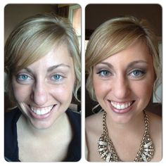 Before and after of bride, Kelly