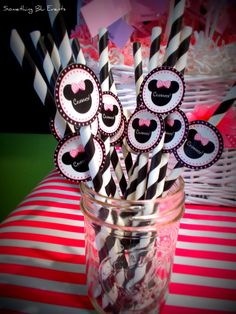 """Paper straws. Would be cute with """"Cheers"""" on the tags."""