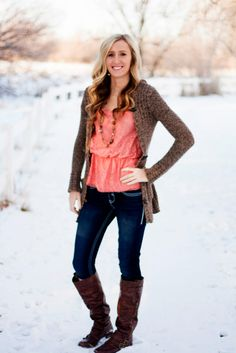 senior picture in the snow.