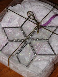 Stained+Glass+Suncatcher++Clear+Glass+Bevels+Star+by+GLASSbits,+$22.00