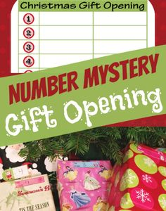 Christmas Wrapping Ideas: Number Mystery Gift Opening for a Christmas morning game StuffedSuitcase.com