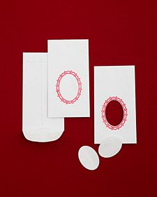 Tutorial for candy envelope window favors