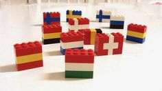 Lego Flags: Winter Olympic Crafts for Kids. Teach your kids about world flags with Legos #StayCurious