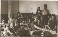 Sewing workshop in the Sosnowiec ghetto