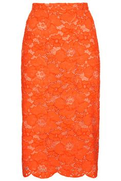 Cord Lace Pencil Skirt
