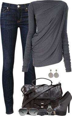 sweater, fashion, cloth, winter style, outfit, grey, fall styles, shoe, shirt