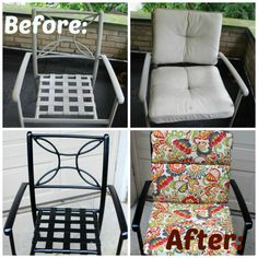 Patio Chair Makeover with Krylon Rust Protector Spray Paint