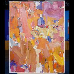 "1960 Chuck Close ""Man Walking"" Oil"