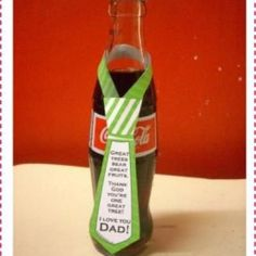 Father's Day Bottle Neck Ties {Fathers Day Cards Printable}