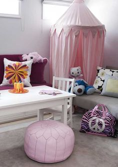 little girls, girl play, family rooms, hang tent, kid stuff, room kidsroom, play room makeover, basement playroom, kid room