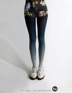 Ombre tights in navy by BZR