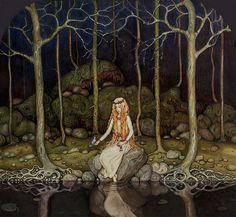 The Princess In The Forest - John Bauer