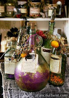 cool potion bottles