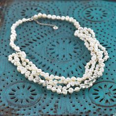 Strand after strand of #Pearls and #Sterling #Silver creates a #Necklace that is perfectly #opulent. #Silpada