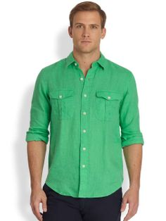 Linen i luv you on pinterest linen shirts french linens Emerald green mens dress shirt