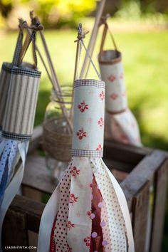 DIY: fabric & ribbon windsocks