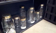 My penchant for mason jars is given an upgrade with shiny gold lids from Gold Leaf Design Group. http://www.goldleafdesigngroup.com/goldleaf/