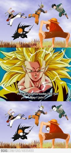 Goku. The Chuck Norris of anime.