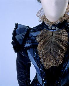 Worth dinner dress ca. 1897  From the Costume Museum of Canada http://www.costumemuseumcanada.com/public/artifacts.html#