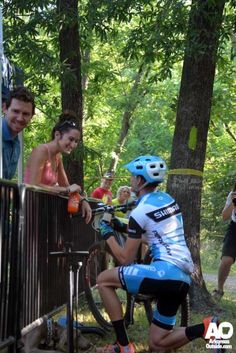 Brian makes his move. Stopping for a wedding proposal after the first lap. #weddingproposal