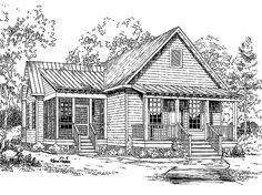 Eplans+Cottage+House+Plan+-+Walnut+Cove+from+The+Southern+Living